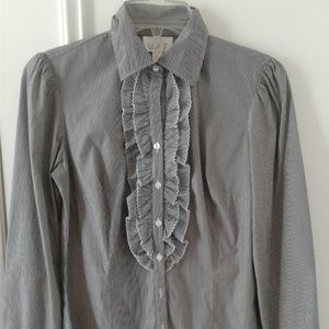 Blue/White Striped Shirt Button-down